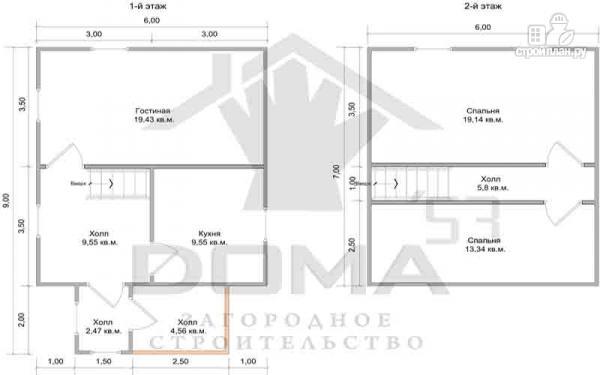 Фото 6: проект деревянный дом 6х9 из профилированного бруса