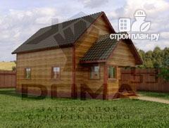 Фото: проект деревянный дом 6х9 из профилированного бруса
