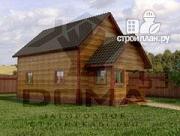 Фото: деревянный дом 6х9 из профилированного бруса