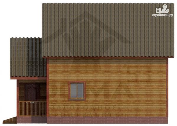 Фото 3: проект деревянный дом 6х9 из профилированного бруса