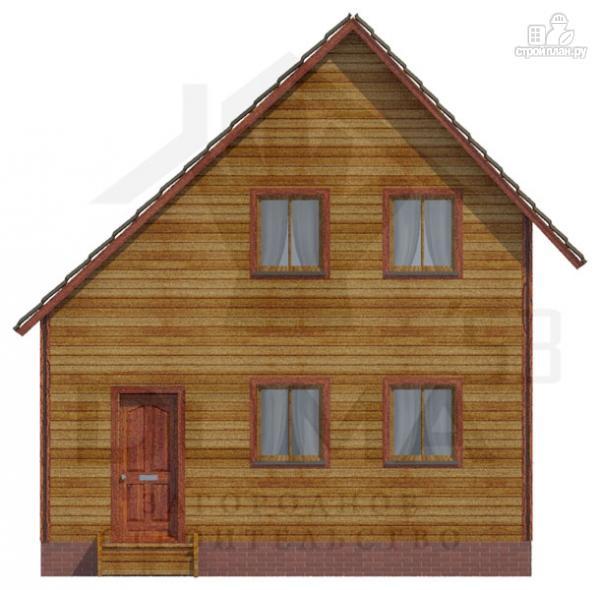 Фото 2: проект деревянный дом со светлыми и просторными комнатами