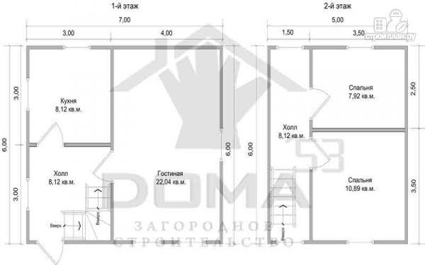 Фото 6: проект деревянный дом со светлыми и просторными комнатами