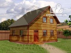 Фото: проект деревянный дом со светлыми и просторными комнатами