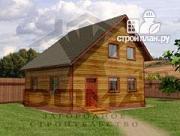 Проект деревянный дом со светлыми и просторными комнатами