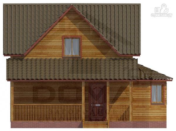 Фото 5: проект деревянный дом с террасой и эркером