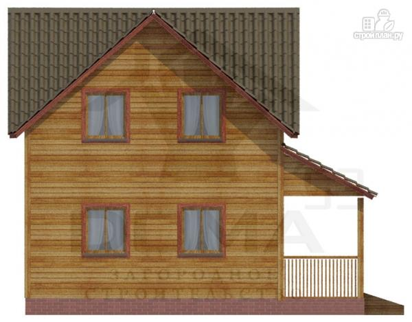 Фото 4: проект деревянный дом с террасой и эркером