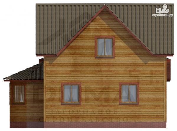 Фото 3: проект деревянный дом с террасой и эркером