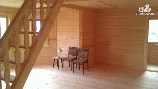 Фото 12: проект деревянный дом со столовой в эркере
