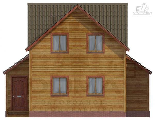 Фото 4: проект деревянный дом со столовой в эркере