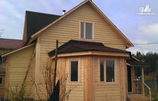 Фото 8: проект деревянный дом со столовой в эркере