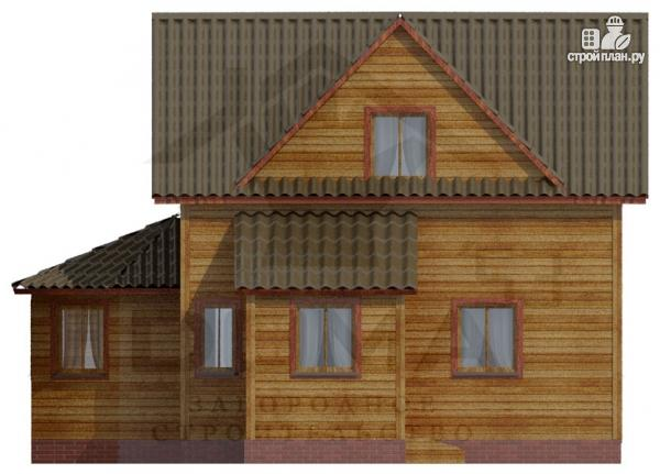 Фото 3: проект деревянный дом со столовой в эркере