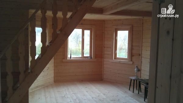 Фото 11: проект деревянный дом со столовой в эркере