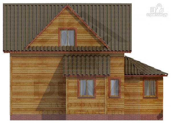 Фото 5: проект деревянный дом со столовой в эркере