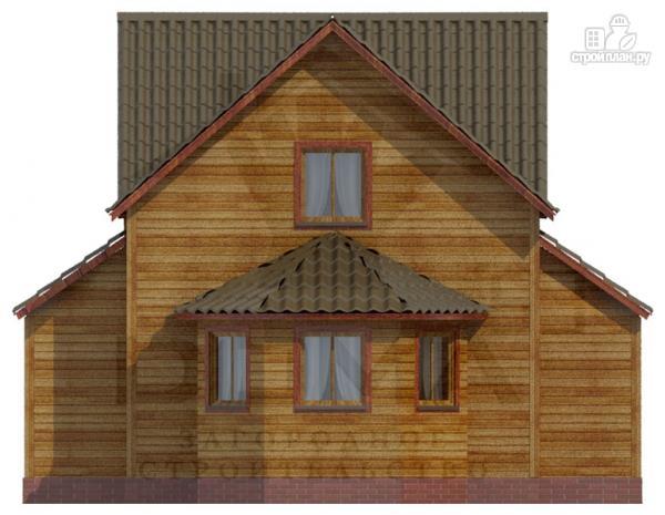 Фото 2: проект деревянный дом со столовой в эркере
