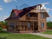 Проект дом из профилированного бруса с террасой и балконом