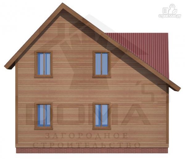 Фото 4: проект дом из профилированного бруса с террасой и балконом