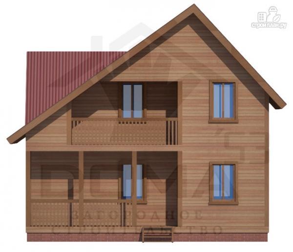 Фото 2: проект дом из профилированного бруса с террасой и балконом