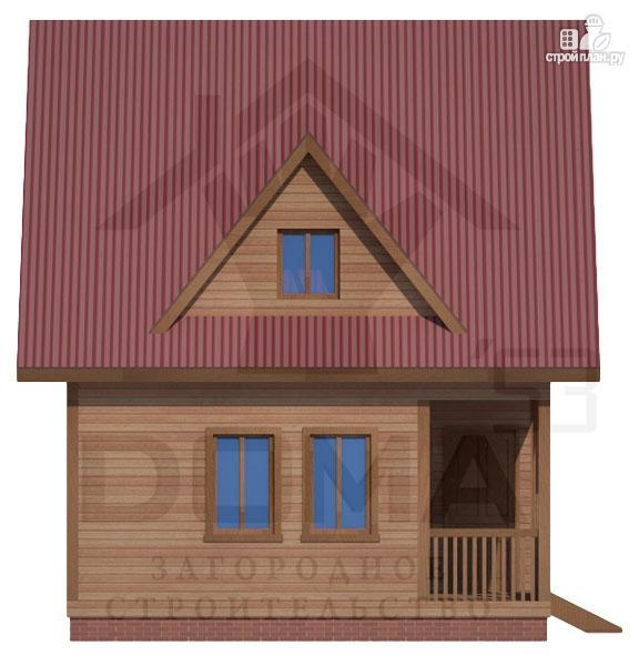 Фото 3: проект дом из профилированного бруса с террасой и балконом