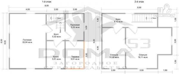 Фото 6: проект брусовой дом 6х8