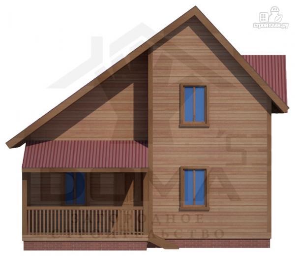Фото 2: проект деревянный дом 8х8 с террасой