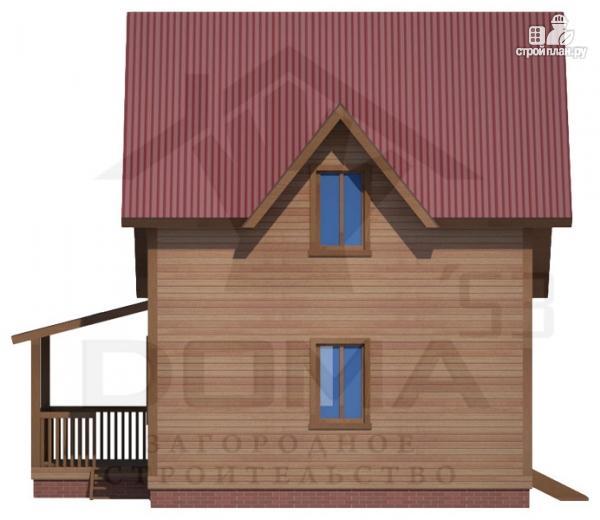 Фото 5: проект деревянный дом 8х8 с террасой