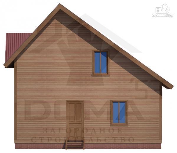 Фото 4: проект деревянный дом 8х8 с террасой