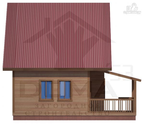 Фото 3: проект деревянный дом 8х8 с террасой