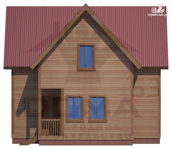 Фото 2: проект дом 7х8 из бруса с мансардой