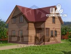 Фото: проект дом 7х8 из бруса с мансардой