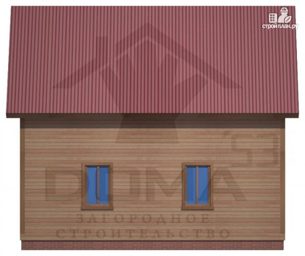 Фото 4: проект дом 7х8 из бруса с мансардой