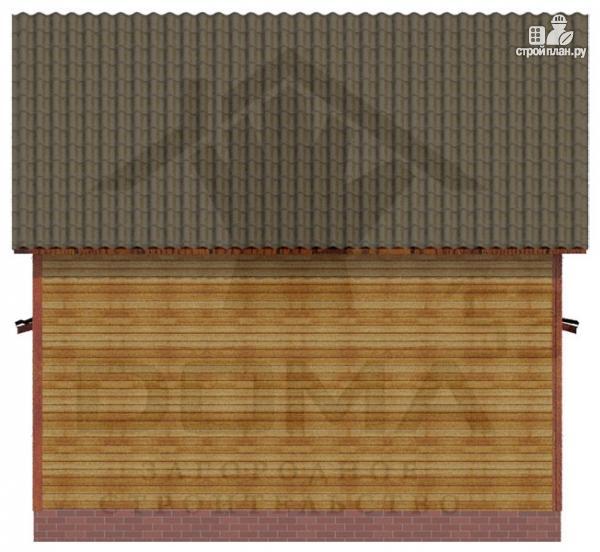 Фото 4: проект деревянный дом из профилированного бруса с террасой