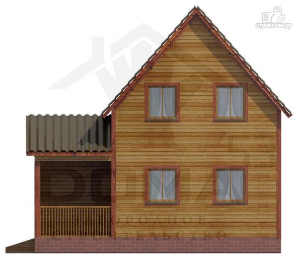 Фото 3: проект деревянный дом из профилированного бруса с террасой