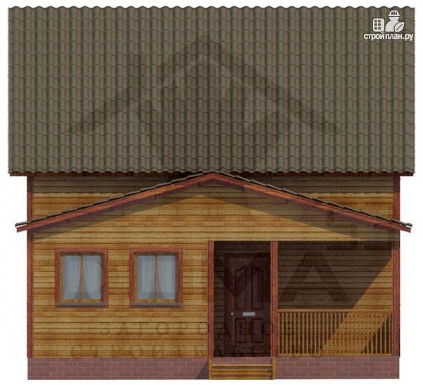 Фото 2: проект деревянный дом из профилированного бруса с террасой