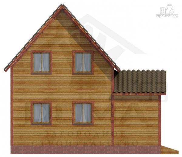 Фото 5: проект деревянный дом из профилированного бруса с террасой