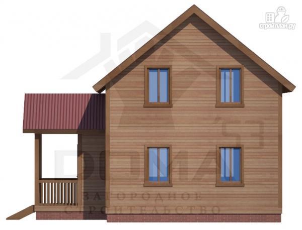 Фото 5: проект деревянный дом с мансардным этажом