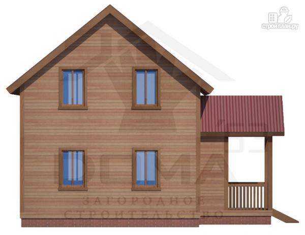Фото 3: проект деревянный дом с мансардным этажом
