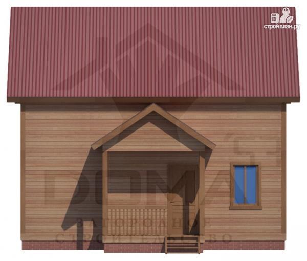 Фото 2: проект деревянный дом с мансардным этажом