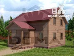 Фото: проект деревянный дом с мансардным этажом