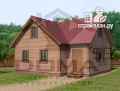 Фото: проект деревянный дом с просторной кухней