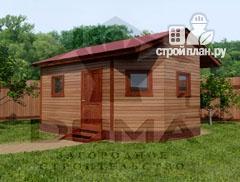 Фото: проект деревянная баня 4х5