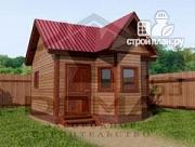 Проект деревянная баня с эркером