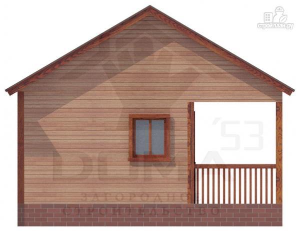 Фото 5: проект деревянная баня с террасой