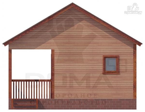 Фото 2: проект деревянная баня с террасой