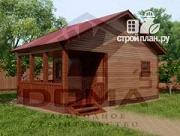 Проект деревянная баня с террасой