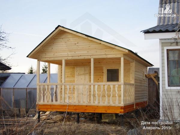 Фото 6: проект баня 4х6 из бруса с террасой