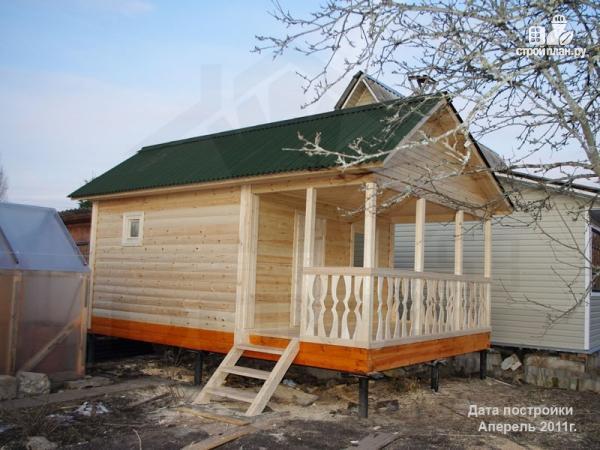 Фото 7: проект баня 4х6 из бруса с террасой