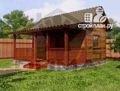 Фото: проект одноэтажная деревянная баня с террасой