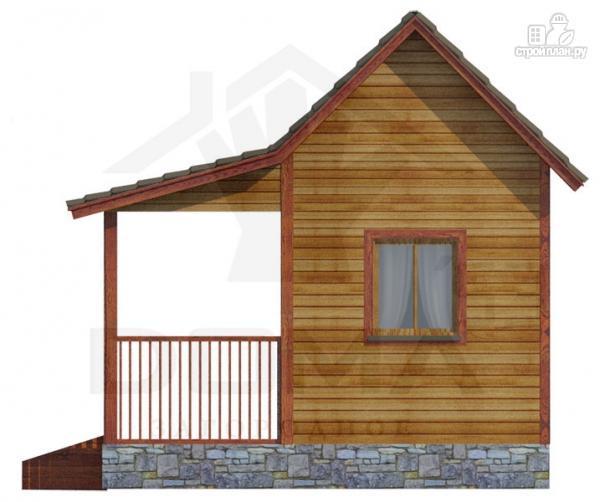 Фото 3: проект одноэтажная деревянная баня с террасой