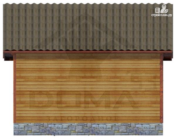 Фото 4: проект одноэтажная деревянная баня с террасой