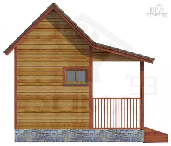 Фото 5: проект одноэтажная деревянная баня с террасой